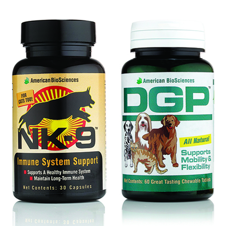 NK-9 and DPG are high-quality pet supplements to improve a pet's quality of life.