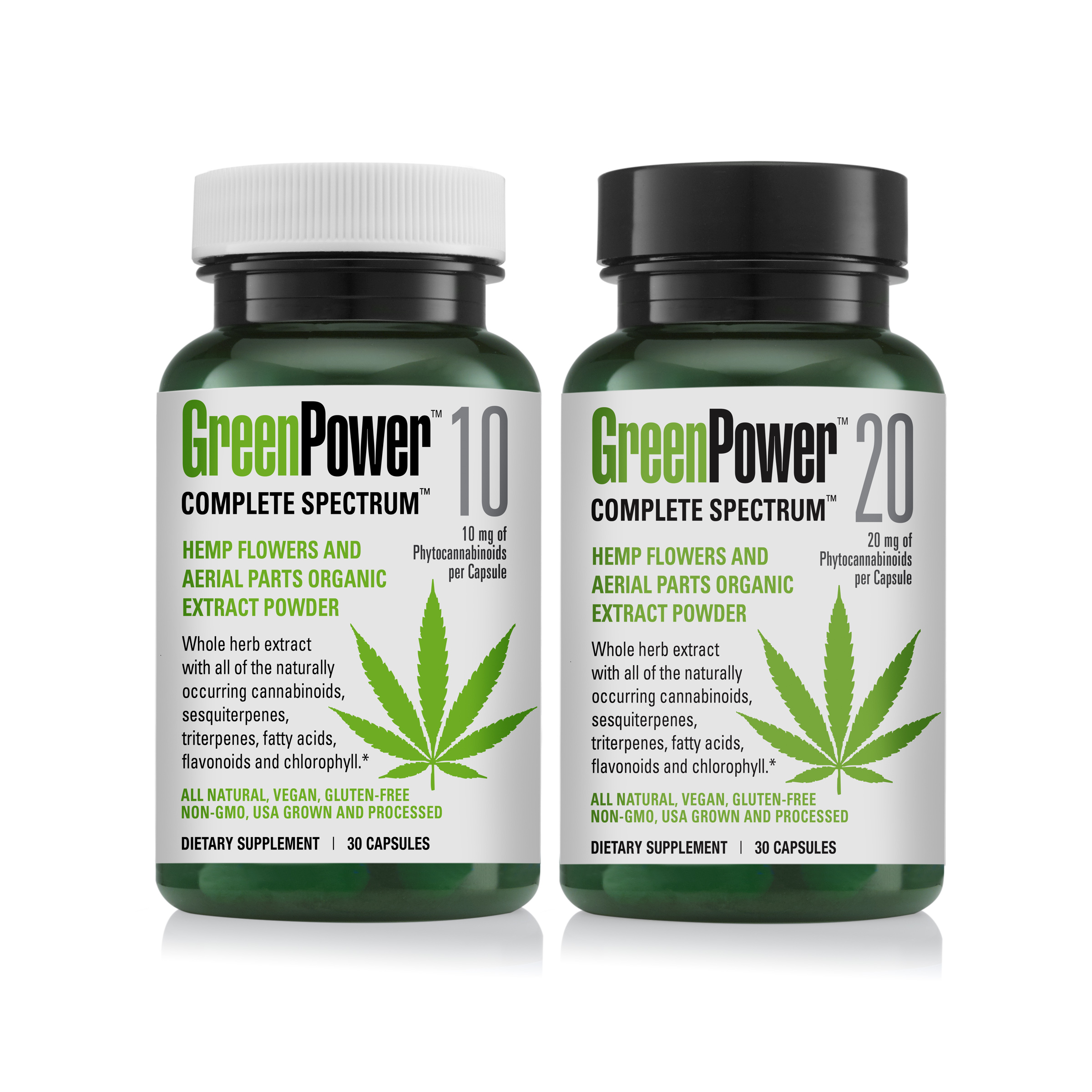 guide to GreenPower 10 and 20 bottles